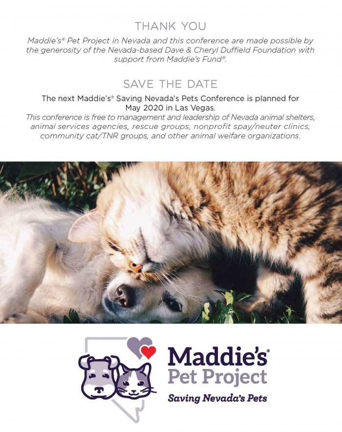 Maddie's Saving Nevada's Pets Conference Booklet