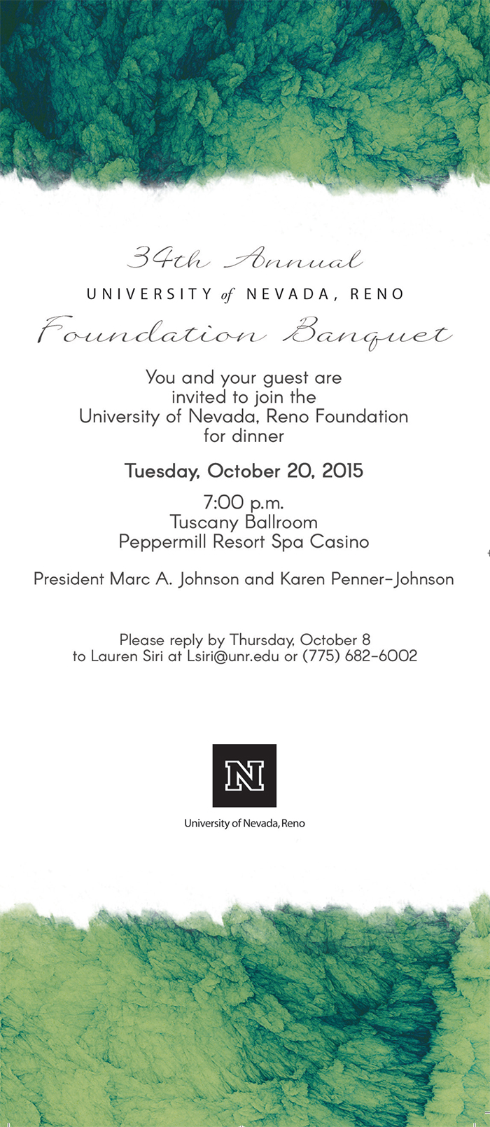 2015 Foundation Banquet invitation