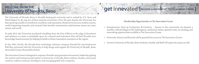 InNEVation Multi-page Tour Booklet