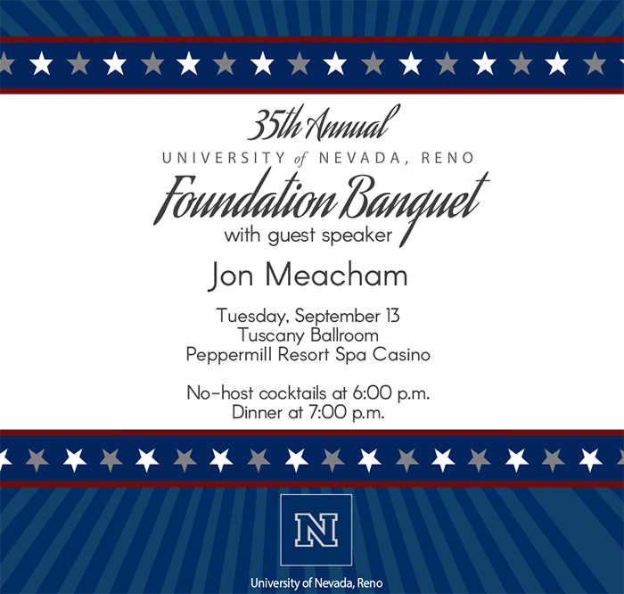 2016 Foundation Banquet Invitation